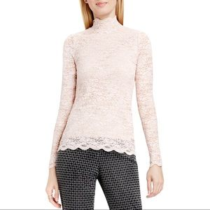 Vince Camuto Stretch Lace Mock Turtleneck